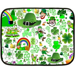 St Patrick s Day Collage Mini Fleece Blanket (two Sided) by StuffOrSomething