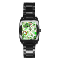 St Patrick s Day Collage Stainless Steel Barrel Watch by StuffOrSomething