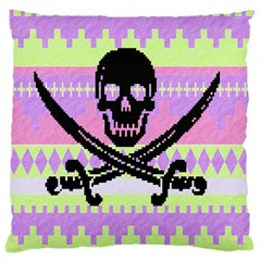 Ugly Pirate Sweater Large Cushion Case (single Sided)