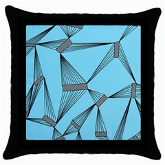 LINES Black Throw Pillow Case by LoveModa