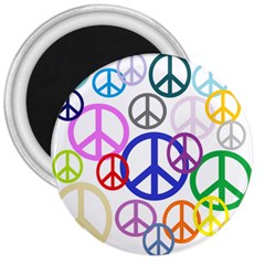 Peace Sign Collage Png 3  Button Magnet by StuffOrSomething
