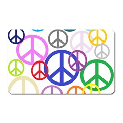 Peace Sign Collage Png Magnet (rectangular) by StuffOrSomething