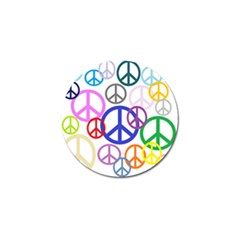 Peace Sign Collage Png Golf Ball Marker by StuffOrSomething