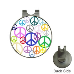 Peace Sign Collage Png Hat Clip With Golf Ball Marker by StuffOrSomething