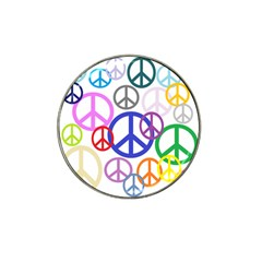 Peace Sign Collage Png Golf Ball Marker 10 Pack (for Hat Clip) by StuffOrSomething