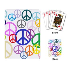 Peace Sign Collage Png Playing Cards Single Design by StuffOrSomething