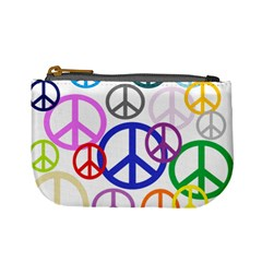 Peace Sign Collage Png Coin Change Purse by StuffOrSomething