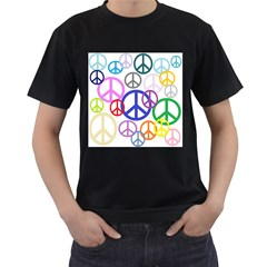 Peace Sign Collage Png Men s T Shirt (black) by StuffOrSomething