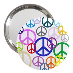 Peace Sign Collage Png 3  Handbag Mirror by StuffOrSomething
