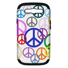 Peace Sign Collage Png Samsung Galaxy S Iii Hardshell Case (pc+silicone) by StuffOrSomething