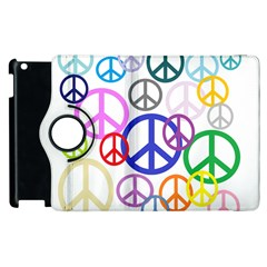 Peace Sign Collage Png Apple iPad 3/4 Flip 360 Case by StuffOrSomething