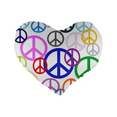 Peace Sign Collage Png 16  Premium Heart Shape Cushion  by StuffOrSomething