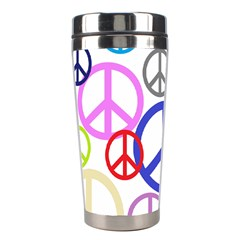 Peace Sign Collage Png Stainless Steel Travel Tumbler by StuffOrSomething
