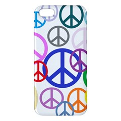 Peace Sign Collage Png Iphone 5s Premium Hardshell Case by StuffOrSomething