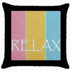 Pastels Black Throw Pillow Case by Contest1721280