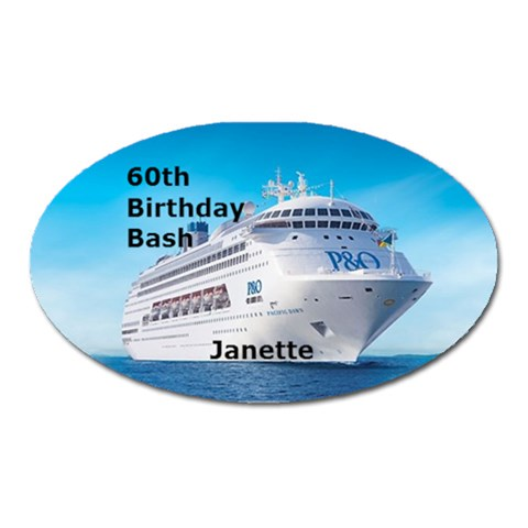 60th Birthday Bash By Trenleis Hotmail Com   Magnet (oval)   Tpgo1mh9vaeh   Www Artscow Com Front
