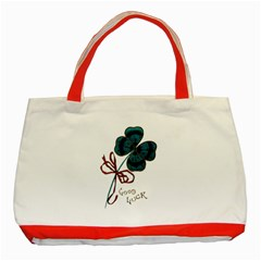 Victorian St Patrick s Day Classic Tote Bag (Red) by EndlessVintage