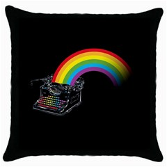 color writer Black Throw Pillow Case by Contest1753604
