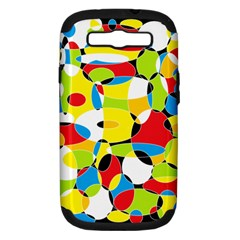 Interlocking Circles Samsung Galaxy S Iii Hardshell Case (pc+silicone) by StuffOrSomething