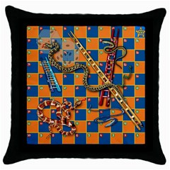 Snakes and Ladders Pillow Black Throw Pillow Case by Contest1869921