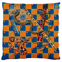 Snakes And Ladders Pillow Large Cushion Case (single Sided)  by Contest1869921