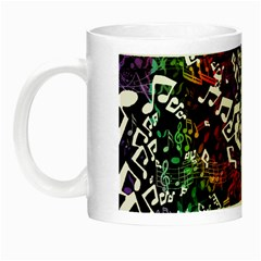 Urock Musicians Twisted Rainbow Notes  Glow in the Dark Mug by UROCKtheWorldDesign