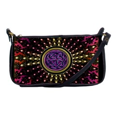 Hot Radiant Fractal Celtic Knot Shoulder Clutch Bag by UROCKtheWorldDesign