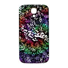 Urock Musicians Twisted Rainbow Notes  Samsung Galaxy S4 I9500/i9505  Hardshell Back Case by UROCKtheWorldDesign
