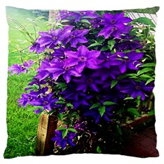 Purple Flowers Large Cushion Case (two Sided)  by Contest1852090