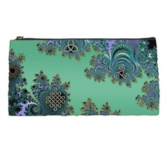 Celtic Symbolic Fractal Design In Green Pencil Case by UROCKtheWorldDesign