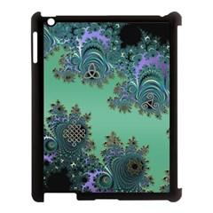 Celtic Symbolic Fractal Design In Green Apple Ipad 3/4 Case (black)