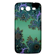 Celtic Symbolic Fractal Design In Green Samsung Galaxy Mega 5 8 I9152 Hardshell Case  by UROCKtheWorldDesign