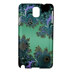 Celtic Symbolic Fractal Design In Green Samsung Galaxy Note 3 N9005 Hardshell Case by UROCKtheWorldDesign