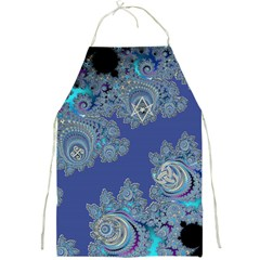 Blue Metallic Celtic Fractal Apron by UROCKtheWorldDesign