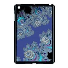 Blue Metallic Celtic Fractal Apple iPad Mini Case (Black) by UROCKtheWorldDesign