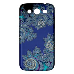 Blue Metallic Celtic Fractal Samsung Galaxy Mega 5 8 I9152 Hardshell Case  by UROCKtheWorldDesign