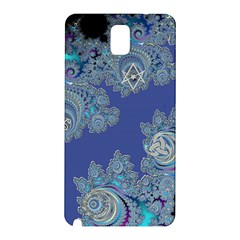 Blue Metallic Celtic Fractal Samsung Galaxy Note 3 Hardshell Back Case by UROCKtheWorldDesign