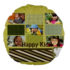 Kids By Kids   Large 18  Premium Round Cushion    Lqcge0pclvjx   Www Artscow Com Back