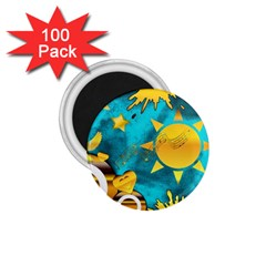 Musical Peace 1 75  Button Magnet (100 Pack) by StuffOrSomething