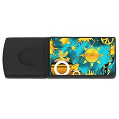 Musical Peace 4gb Usb Flash Drive (rectangle) by StuffOrSomething