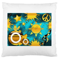 Musical Peace Large Cushion Case (single Sided)  by StuffOrSomething