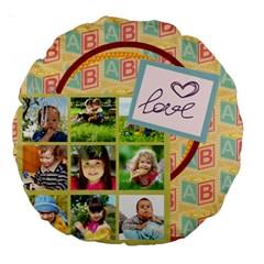 Kids By Kids   Large 18  Premium Round Cushion    W7u0abow9sl2   Www Artscow Com Front