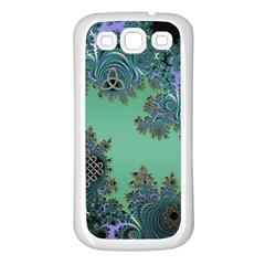 Celtic Symbolic Fractal Samsung Galaxy S3 Back Case (White)