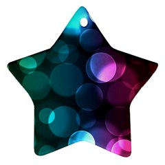 Deep Bubble Art Star Ornament by Colorfulart23