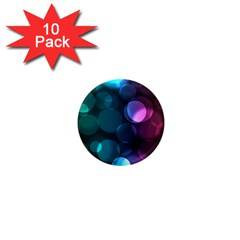 Deep Bubble Art 1  Mini Button Magnet (10 Pack) by Colorfulart23