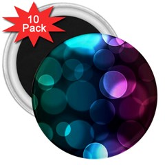 Deep Bubble Art 3  Button Magnet (10 Pack) by Colorfulart23