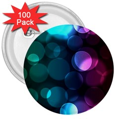 Deep Bubble Art 3  Button (100 Pack) by Colorfulart23