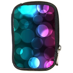 Deep Bubble Art Compact Camera Leather Case by Colorfulart23