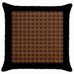 Golden Round Black Throw Pillow Case
