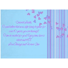 Sem By Sharon   Miss You 3d Greeting Card (7x5)   L4l0p68f6y8l   Www Artscow Com Back